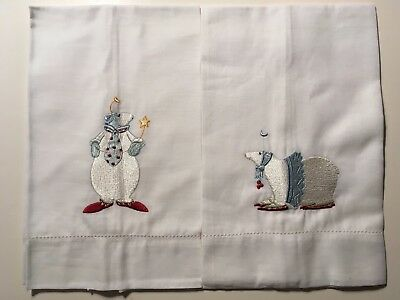 POLAR BEAR PALS * PAIR of Krinkles HAND / GUEST TOWELs * Patience Brewster