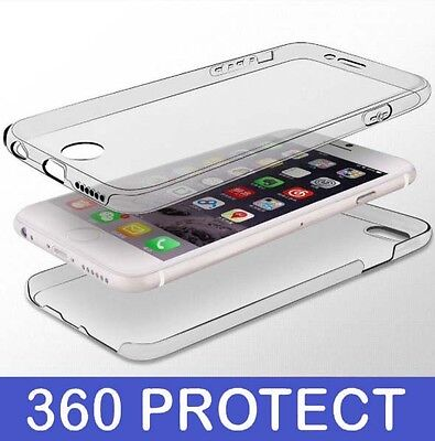 360° Front And Back Slim TPU Clear Gel Cover Case For New Apple iPhone 8 Plus