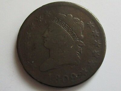 1809 Classic head Large Cent VG   Key Date!!