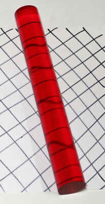 """1 1/2"""" DIAMETER 6"""" INCH LONG CLEAR RED TRANSLUCENT ACRYLIC LUCITE ROD 1.5"""" 38mm"""