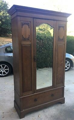 Maple U0026 Co Edwardian Era Antique Armoire/Wardrobe Solid Wood 1920 London  Paris