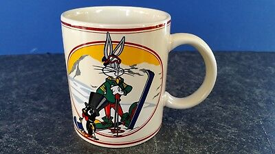 Warner Brothers Bugs Bunny coffee mug A Day on the Slopes 1993 store exclusive