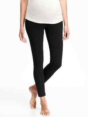 Old Navy Maternity Full-Panel Jersey Leggings in Black ~ NWT ~ Size M