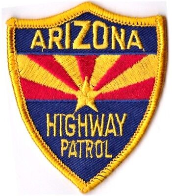 ARIZONA HIGHWAY PATROL -  IRON or SEW-ON PATCH
