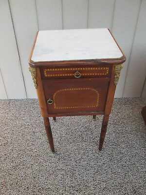 47303 Inlaid marble top Nightstand Table Stands