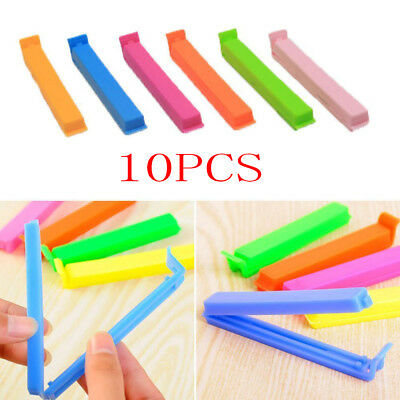 10 pcs Kitchen Storage Food Snack Seal Sealing Bag Clips Clamp Plastic Fashion