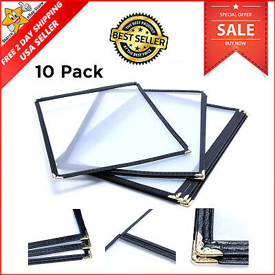 (10 Pack) Menu Holders Triple Fold Cover For 8.5x11 Book Style Restaurant NO TAX