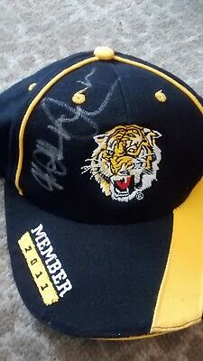 Matthew Richardson Signed Football Cap Richmond Tigers Signed Football 2017