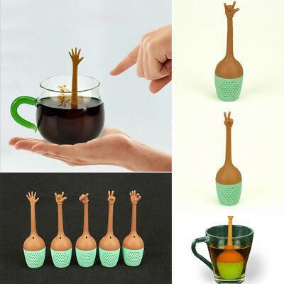 Fashion Silicone Loose Tea Leaf Strainer Herbal Spice Infuser Filter Diffuser