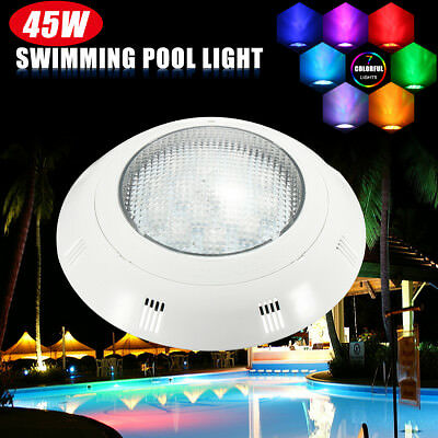 12V 45W RGB LED Swimming Pool Light Wall Mounted Underwater Remote Control Light
