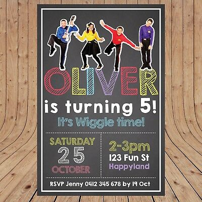 PERSONALISED WIGGLES Kids Party Birthday Invites Invitations DIGITAL