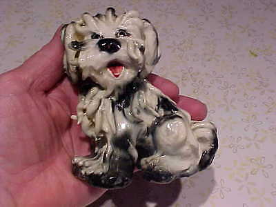 Vintage Wild Noodle Haired SKYE TERRIER Dog Figurine Figure Statue Italy Italian