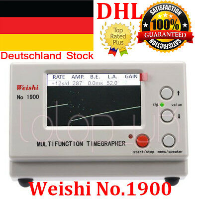 Weishi Timegrapher Mechanical Watch Timing Machine Multifunction No.1900  DE DHL