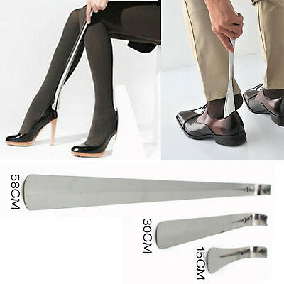 Long Metal Shoe Horn Long Handle Shoehorn Flexible Sturdy Slip Shoes Aid 3 Sizes