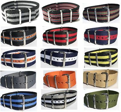 18/20/22mm Nylon Watch Strap Band Military Army Nylon Divers G10 Mens S.S Buckle