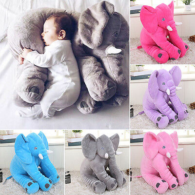 Cute Large Long Nose Elephant Sleep Pillow Baby Plush Toy Lumbar Cushion Doll