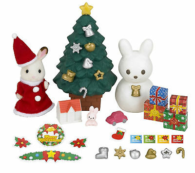 Sylvanian Families Christmas Set Present For Kids Festive Toys Children Gift New