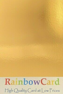 20 Sheets - Gold Mirror A4 Crafting Card 220 Gsm