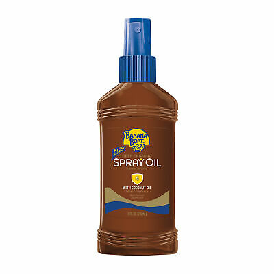 Banana Boat Deep Tanning Oil Spray, With Sunscreen SPF 4, Water Resistant, 8 Oz