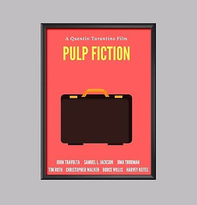 Pulp Fiction Movie Minimalist Poster Picture Print A4