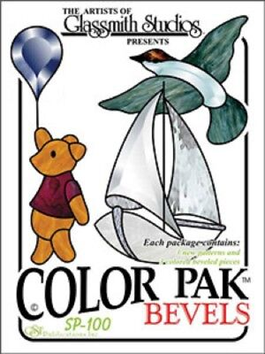 Stained Glass Supplies - Color Pak #1 Bevel Clusters - Bear, Boat & Bird