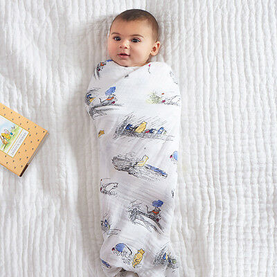 NWT Aden & Anais Winnie the Pooh 4-Pack Disney Baby Swaddle