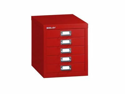Bisley Filing Cabinet - 5 Drawer Red - Brand New +  24H Del
