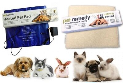Pet Remedy Low Voltage Heated Pet Pad & Calming Bed Pad Covers Cats Dogs Rabbits