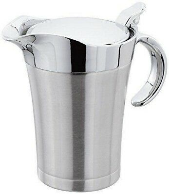 Large Stainless Steel Double Insulated Gravy Boat Sauce Jug Kitchen Server 500ml