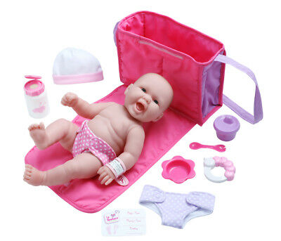 "Berenguer La Newborn ~ 13 "" Happy Baby Doll With Diaper Bag & Accessories 18332"