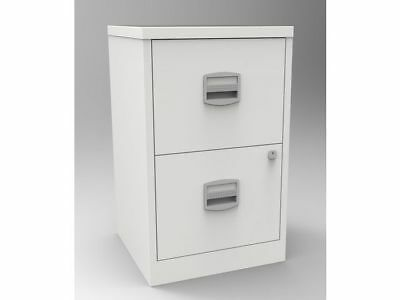 2 DRAWER BISLEY STEEL FILING CABINET /  OYSTER WHITE / A4 /  NEW + FREE 24h DEL