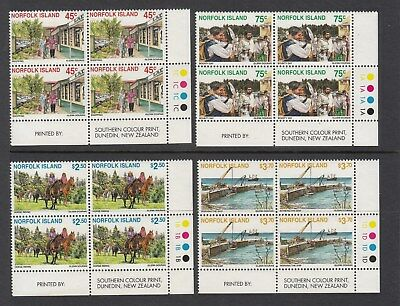 Norfolk Island: 1996  Tourism in c/r blocks of 4 & plate numbers. MUH.Cheap