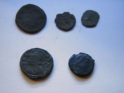Genuine Roman Coin Collection Joblot x5 Uncleaned Unresearched Good Grade Lot#32