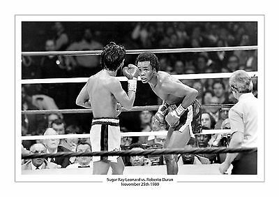 Sugar Ray Leonard vs.Roberto Duran A4 Aufdruck Foto Box November 25. 1980