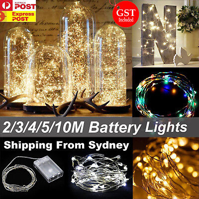 2-10M Battery Powered Silver Wire String Fairy Lights LED Waterproof Party Xmas