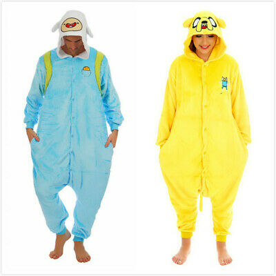 Adventure Time Jake Finn Onesiee Kigurumi Fancy Dress Costume Hoody Pyjama Gift