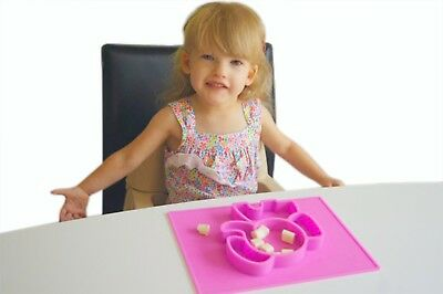 Silicone Elephant Baby Placemat Plate Craft Pet mat Kids toddlers EllieMat