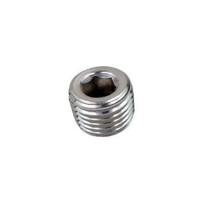 "1/4"" Male BSPT Counter Sunk Socket Plug Stainless 304 Barstock Pipe Fitting"