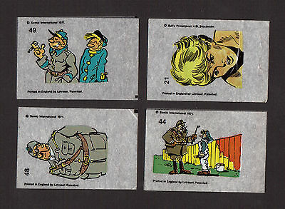 Lot of 4 Vintage 1971 Swedish Letraset Iron On Cartoon Transfers