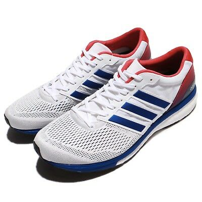 new styles 0f3ca 5a9c3 adidas Adizero Boston 6 Aktiv Boost White Blue Red Men Running Sneakers  BA8145