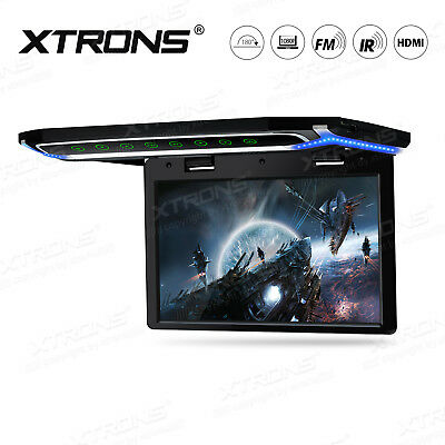 """10.2"""" Overhead Car Roof Mounted Flip Down HDMI TFT Screen Monitor 1080P Video IR"""