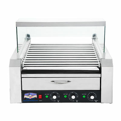 Great Northern 11 Roller Grilling Machine | Bun Warmer | Cover | 30 Hot Dogs