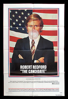 THE CANDIDATE original 1972 US one sheet movie poster ROBERT REDFORD