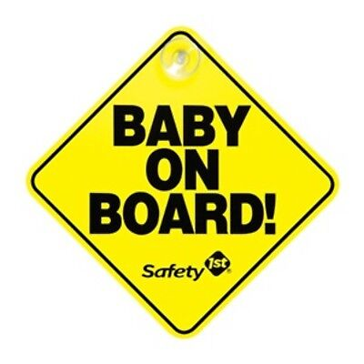 Safety 1st Yellow Baby On Board Sign With Suction Cup NEW IN PACKAGE