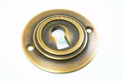 Round Antique Modern Metal Key Hole Cover Lock Padlock Keyhole Vintage Custom