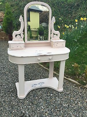 Antique Victorian Painted Mahogany Children's Dressing Table