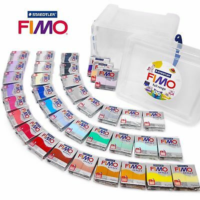 FIMO Effect 57g Polymer Modelling Oven Bake Clay - Set of all 36 Colours in Tub