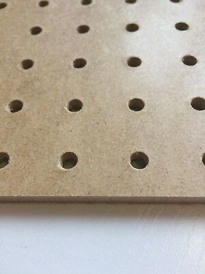 Pack Of 4 1200x600mm Pegboard Sheets 6mm Thick 25mm Hole Centre