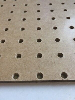 Pack Of 3 1200x600mm Pegboard Sheets 6mm Thick 25mm Hole Centre