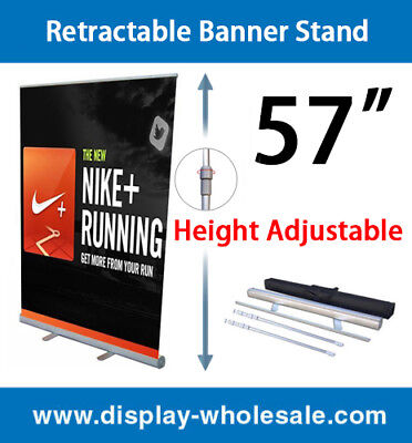 """Retractable Banner Stand 57"""" 2 PCS"""